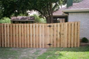 cedar wood shadow box style privacy fence and gate