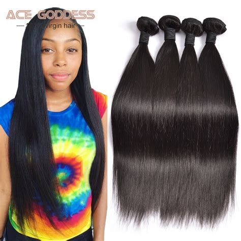 aliexpress virgo hair peruvian virgin hair straight 4 bundles peruvian straight
