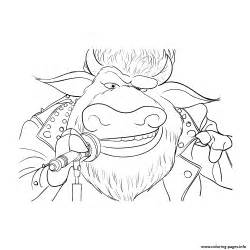 rocker animal sing coloring pages printable