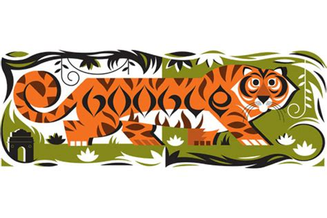 indian election doodle republic day india doodles a tiger with