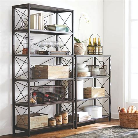 6 foot black bookcase home decorators collection ryan burnished black open