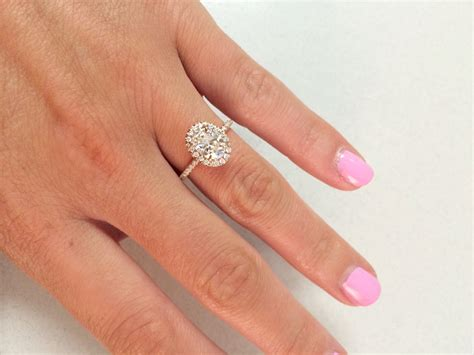 rose gold bentley real housewives show me your oval halo engagement rings weddingbee