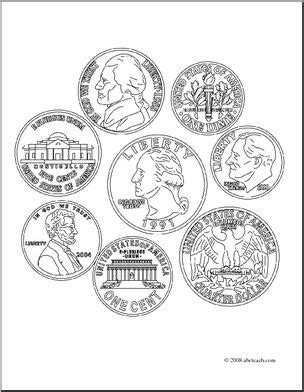 coins coloring page school math pinterest