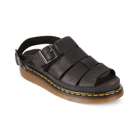 dr martens mens sandals dr martens flash fisherman sandals in black for lyst