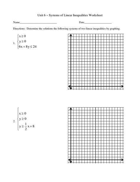 Graphing Systems Of Inequalities Worksheet by 15 Best Images Of Solving And Graphing Inequalities