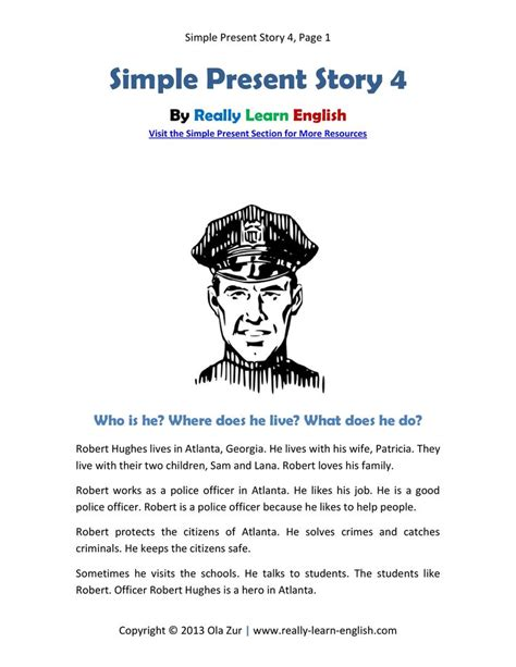 Komik Story From The Past 1 5 look a free printable story in the simple present tense with worksheets and