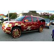 Brandywine &amp Gold Flamed GMC Yukon Denali On 30 Forgiatos