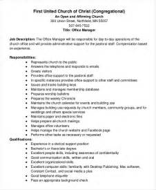 Office Manager Description Template by Description Template 10 Free Word Pdf Documents