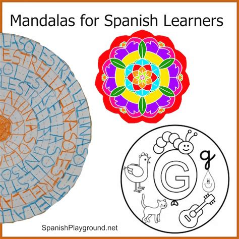 color pattern in spanish mandala coloring pages for spanish learners spanish