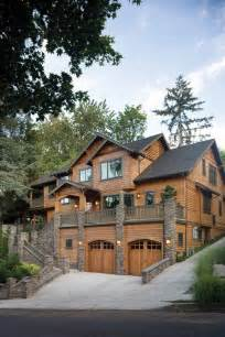 architecture oregon log cabins log homes wood stone house
