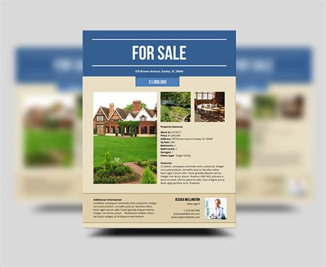 free house for sale flyer templates 17 stylish house for sale flyer templates designs