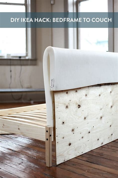 ikea hack bed frame ikea hack turning a fjellse bedframe into a couch bed