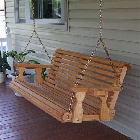 back porch swing centerville amish heavy duty 700 lb roll back wooden swing