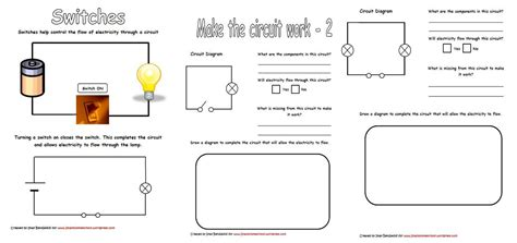 Electricity Worksheets by Electricity Circuits Worksheets Iman S Home School