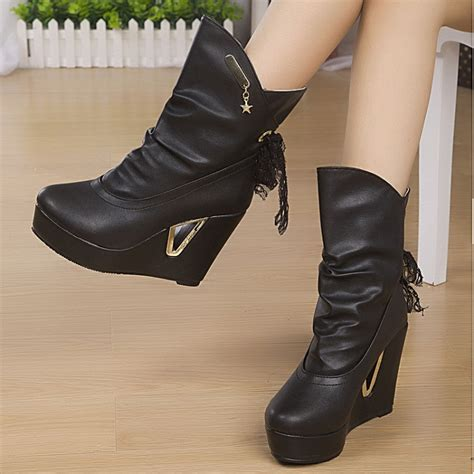 2014 korean winter new slope with snow boots waterproof
