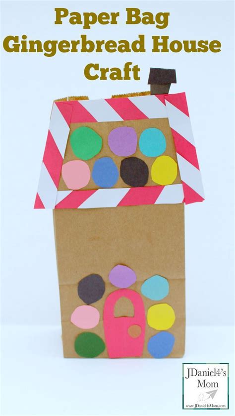 Paper Bag House Craft - paper bag gingerbread house craft this craft