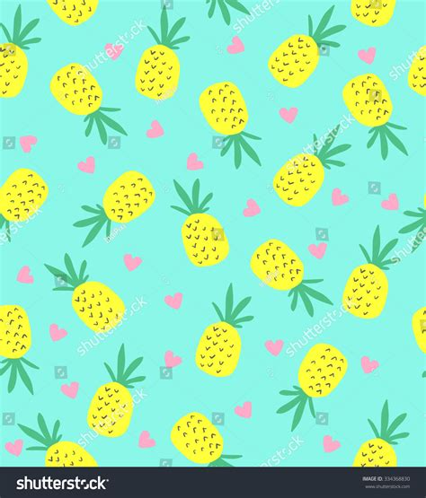 cute pattern passwords seamless pineapple pattern cute pineapple pattern stock