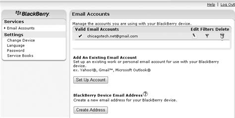 reset blackberry email settings how to reset blackberry account information