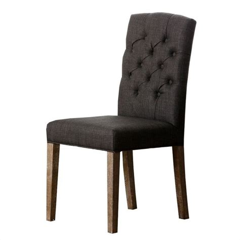 Grey Tufted Dining Chair Abbyson Living Princeton Tufted Fabric Dining Chair In Gray Hs Dc 485 Gry