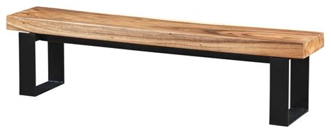 black wooden bench indoor bench made of suar wood with black metal legs rustic