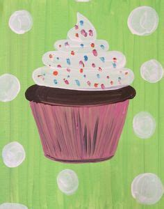 paint with a twist cocoa original on cupcake cloud nine acrylic painting 4x4