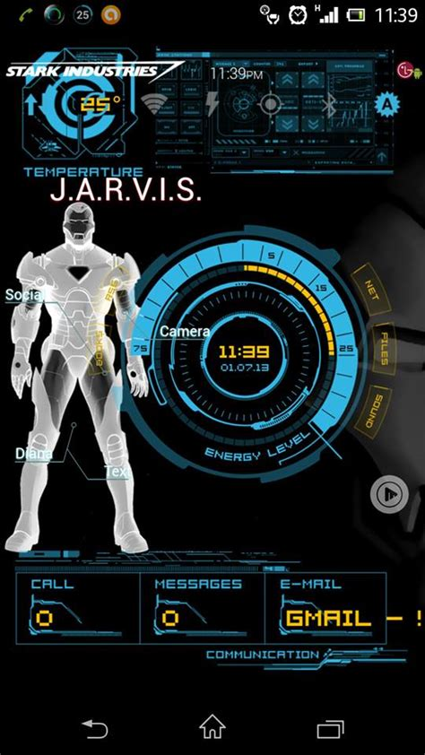 themes for android jarvis iron man jarvis live wallpaper wallpapersafari