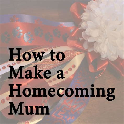 how to make a homecoming mum with video by kasper