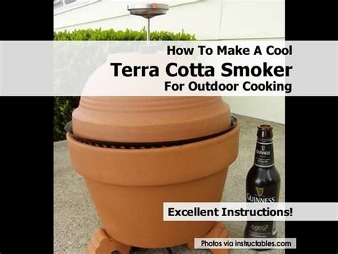 how to make terracotta how to make a cool terra cotta smoker for outdoor cooking