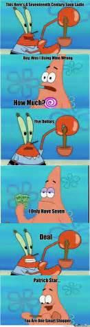 Funny Patrick Memes - patrick star smart shopper by willholden meme center