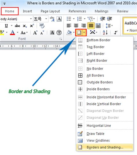word 2016 2013 2010 using simple borders for a table of contents microsoft office mswpeap