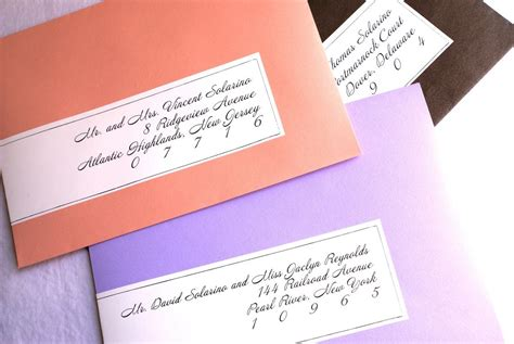 items similar to calligraphy wrap around labels for colored envelopes on etsy