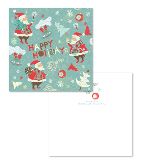 santa card template warn santa claus greeting card template