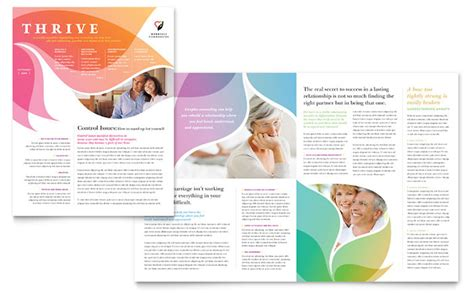 brochure layout ideas pdf marriage counseling newsletter template design