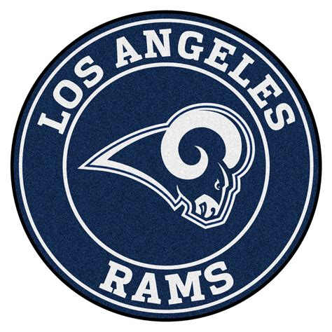 Nfl Home Decor by Los Angeles Rams Logo Roundel Mat 27 Quot