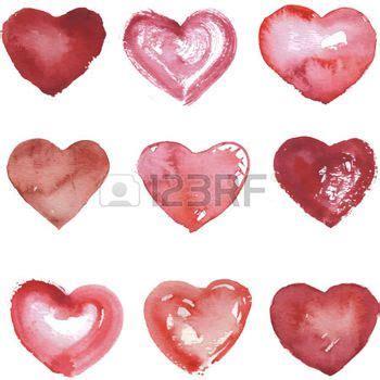 imagenes de corazones dibujados a mano conjunto de corazones dibujados a mano con acuarelas