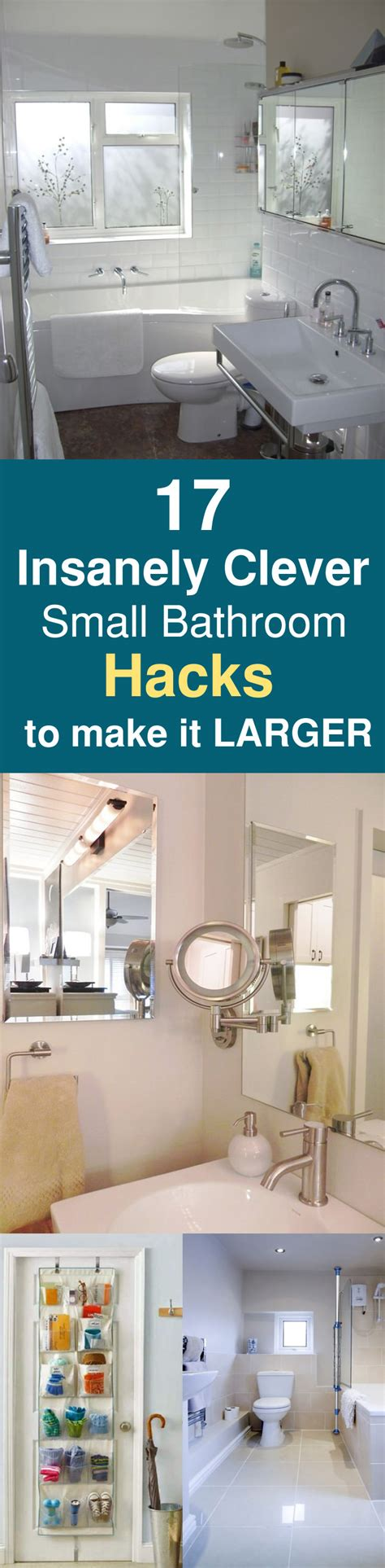 small bathroom hacks 17 insanely clever small bathroom hacks to make it larger