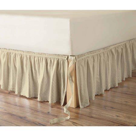 better homes gardens eyelet adjustable bed skirt 1 each best bed skirts dust ruffles