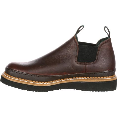 s slip on brown leather romeo work shoe