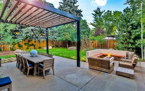 Park Patio by Sleek Modern Outdoor Living Space In Park Hill Mile High