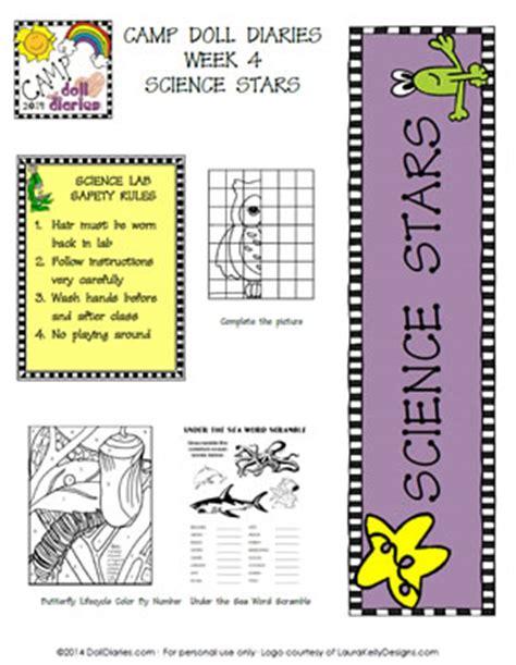 American Doll School Worksheets by C Doll Diaries Week 4 Science Doll Diaries