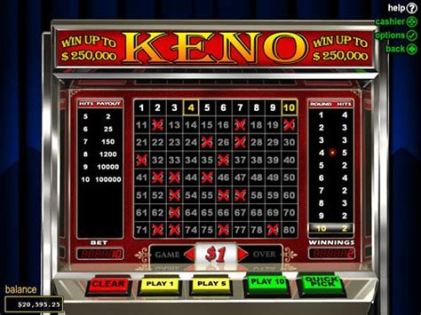 Play Keno Online Win Real Money - online keno for money play real money keno games online