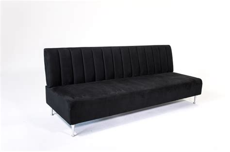 Vintage Sofa Rental Signature Party Rentals Retro Black 7 Couch Rentals