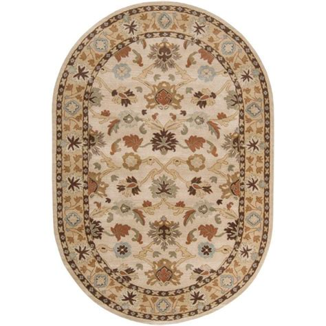 6 x 9 oval area rugs artistic weavers beige wool oval 6 ft x 9 ft area rug the home depot canada