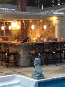 outdoor kitchen bar patio cover our little piece of