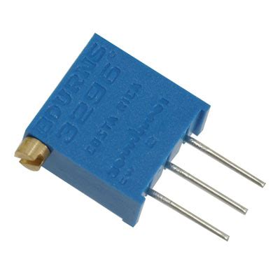 1k resistor direction 3296x 1 102lf bourns resistor trimmer 1k ohm 10 1 2 watt 25 turn 2 19mm pin through