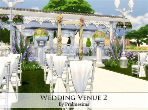 how to set up a wedding in sims 3 wedding venue 2 by pralinesims at tsr 187 sims 4 updates