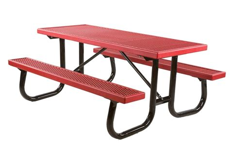 plastic coated picnic tables 6 ft plastisol coated metal picnic table with galvanized