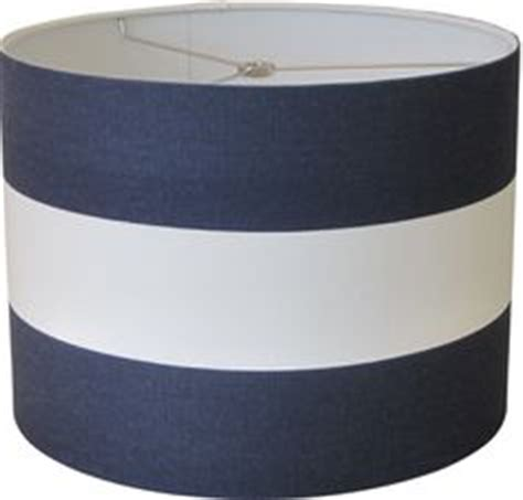 Navy Blue And White L Shade by Lshapes Nautical L Shade Two Tier Anchors