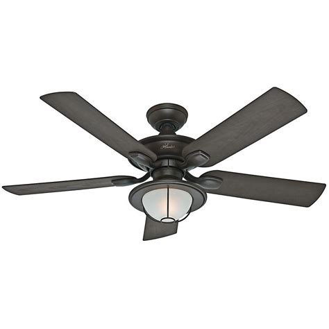 hunter caicos 52 in new bronze wet rated ceiling fan hunter maribel 52 in outdoor new bronze ceiling fan 59029