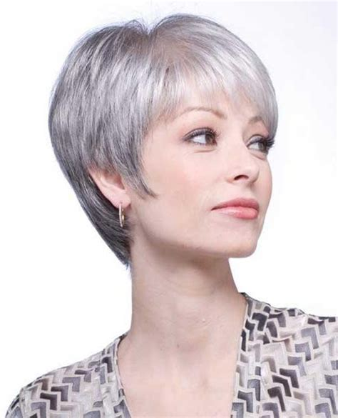 hair styles for salt and pepper hair for women 20 best ideas of short hairstyles for salt and pepper hair
